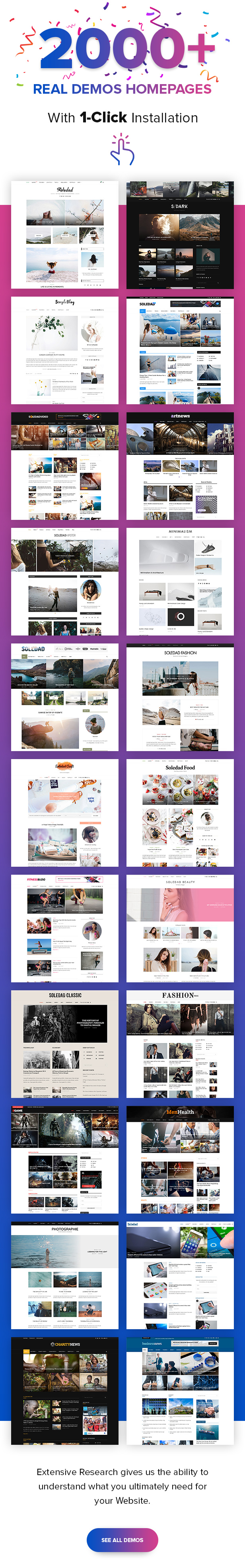 Soledad WordPress Blog Theme  - B1 200Demos2 - Soledad – Multi-Concept Blog/Magazine/News AMP WordPress Theme