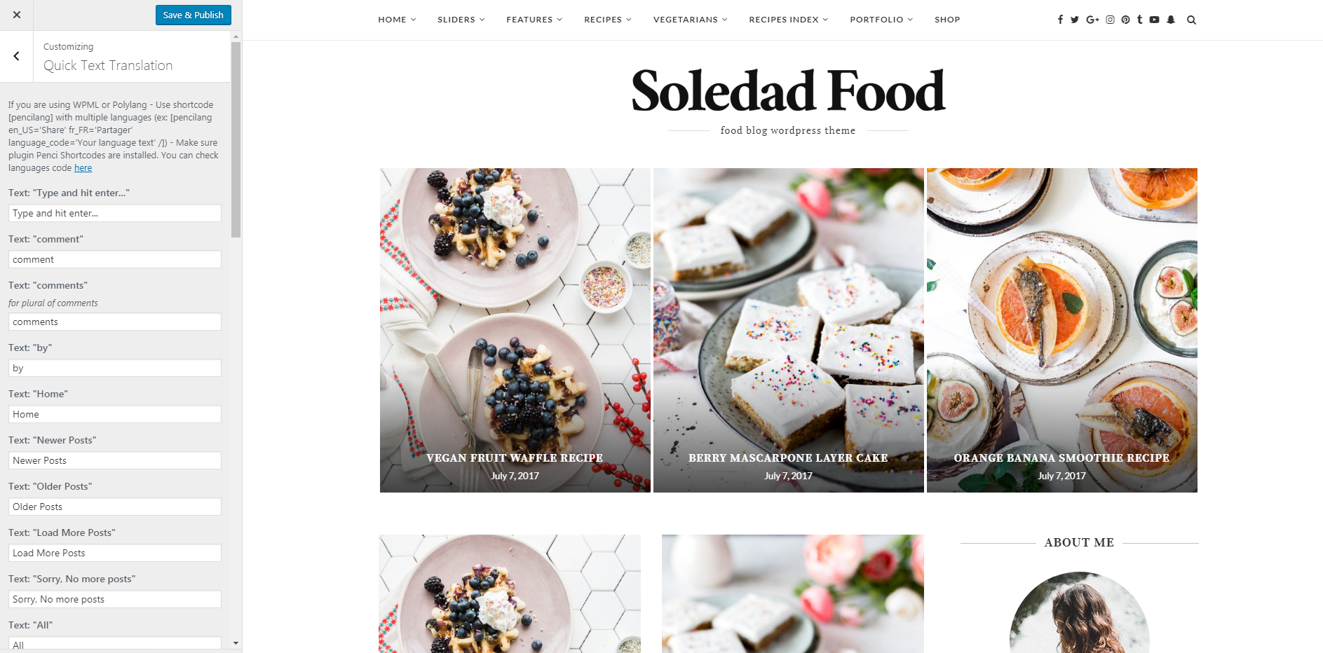 Documentation for Soledad Wordpress Theme